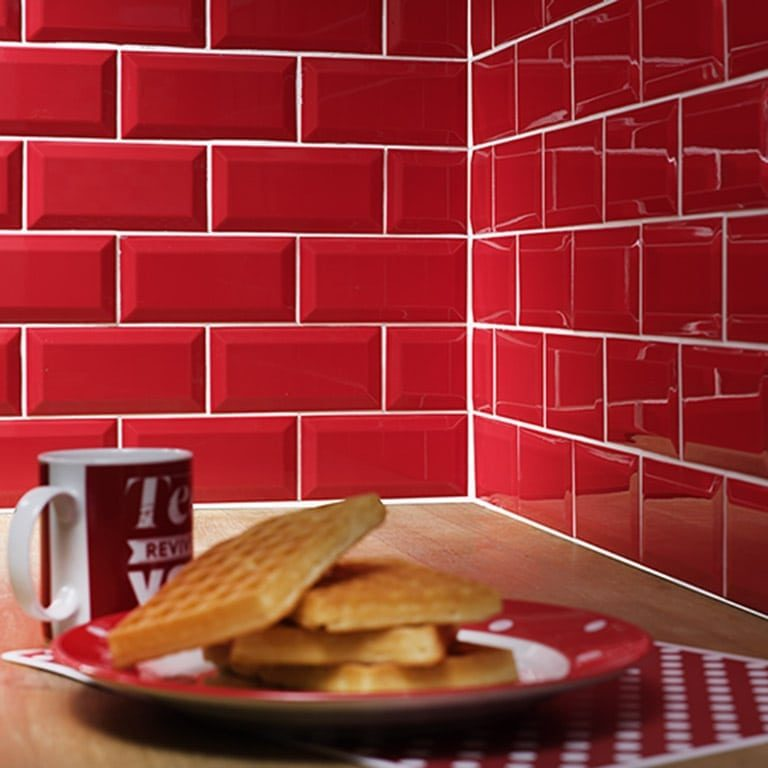 Metro Red Ceramic, Kitchen Tiles, Premier Tiles Barrow - the Largest Supplier of Tiles in South Cumbria