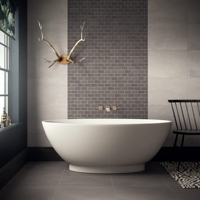 Cemento Dark Grey Brick Mosaic, Premier Tiles Barrow - the Largest Supplier of Tiles in South Cumbria