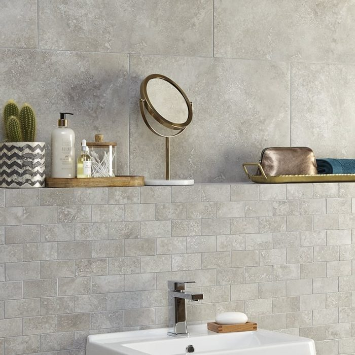 Valley Grey Brick Mosaic, Premier Tiles Barrow - the Largest Supplier of Tiles in South Cumbria